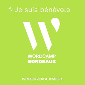 Je suis bénévole au WordCamp Bordeaux