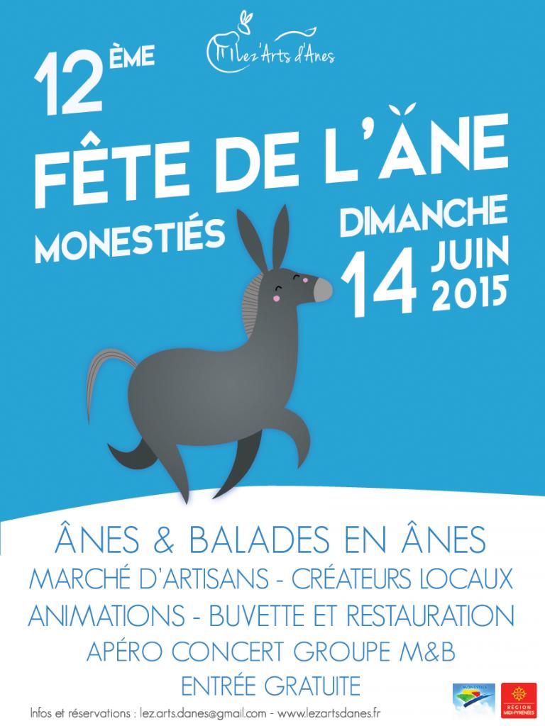 Affiche fête de l'âne 2015