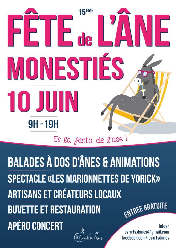 Affiche fête de l'âne 2018
