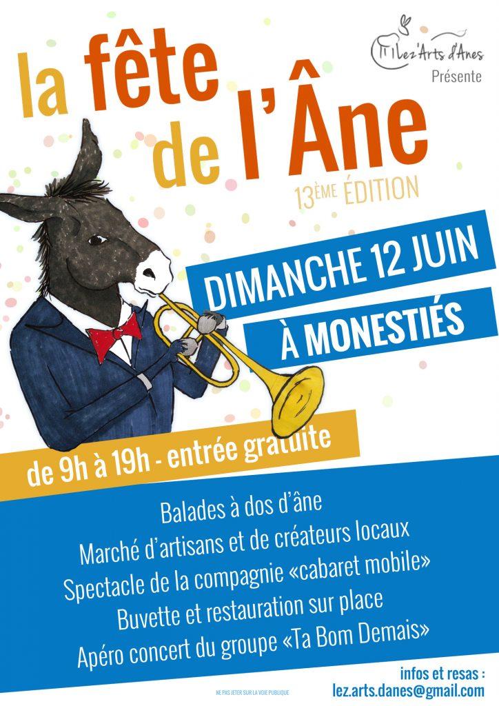 Affiche fête de l'âne 2016