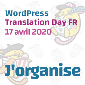 Badge WP Translation Day organisateur